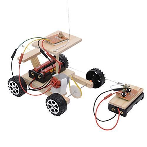 Toyvian - Kit de construcción de coche de madera eléctrica