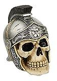 Ky & Co YesKela 5 Inch Roman Hel met Warrior Skeleton Skull Resin Statue Figurine