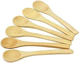 6Pcs Wooden Ecofriendly soup Tea Coffee Spoon