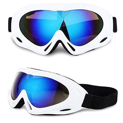 FGGTMO Skibrille, Snowboard Goggles Snowmobile Anti-Fog UV-Schutz Jungen/Mädchen/Jugend Helm Schutz, für Berufssnowmobile Rochen-Schutzbrille (Color : F)