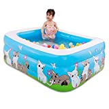 WXH Giant Inflatable Swimming Pool, Summer Party Family and Kids Inflatable Bathtub, 59'X 43.3'X 19.6' ocean ball air pump repair kit bib, for Ages 3+,B