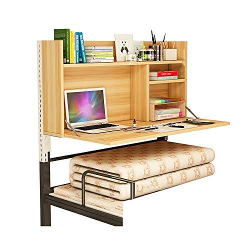 HEMFV Escritorio ergonómico para computadora Computadora de escritorio, la cama del escritorio, for ahorrar espacio multifuncional montado en la pared turística, Multi-Capa de almacenamiento, for dorm