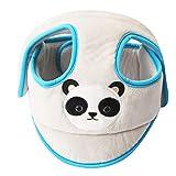 KAKIBLIN Casco de seguridad para bebés, Protector de cabeza transpirable Casco protector ajustable Caperuza protectora de seguridad para niños pequeños Aprender a caminar, gris
