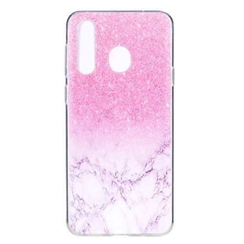 BAIYUNLONG Funda Protectora, Elegante y Hermoso Estuche de protección contra caídas TPU for Galaxy M40 (Campanas de Viento) (Color : Marble)