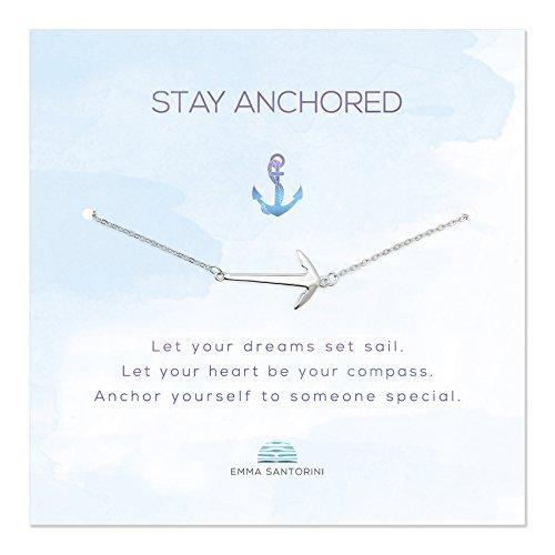 Emma Santorini Silberarmband mit Spruch-Karte Anker