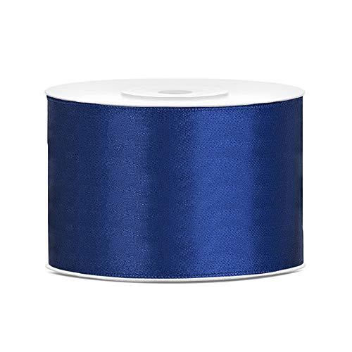 DaLoKu Satinband 6/12/25/38/50/100mm x 25m Geschenkband Schleifenband, Größe: 50mm x 25m, Farbe: Dunkelblau