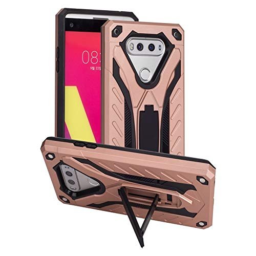 MyCase for LG V20 Shockproof Dual Layer 2-in-1 Armor PC+TPU Protective Hard Stand Case (Color : Rose Gold)