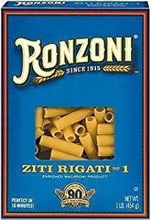 Ronzoni Ziti Rigati Non GMO 16 Oz. Pack Of 3.