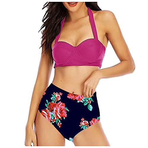 VODMXYGG Traje de baño para Mujer con Estampado Sexy de Verano y Gran Abertura en el Bikini Bañador Vacaciones 0916609