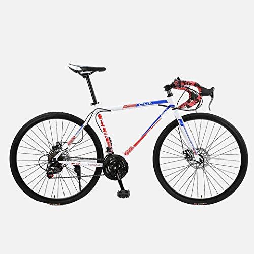 Vélo De Route, Vélos 21 Vitesses De 26 Pouces, Double Frein À Disque, Cadre en Acier À Haute...