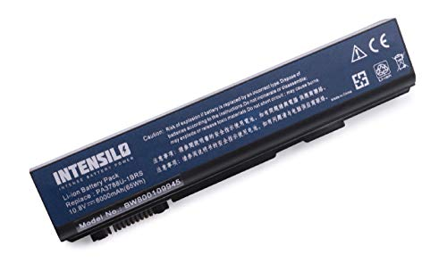INTENSILO Li-Ion Akku 6000mAh (10.8V) für Notebook Laptop Toshiba Tecra S11-15H, S11-166, S11-16P, S11-173 wie PA3788U-1BRS, PABAS223