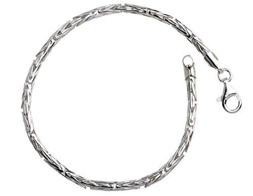 Königskette Armband rund Silberarmband - Breite 3mm - 925 Silber Länge wählbar von 16cm-25cm