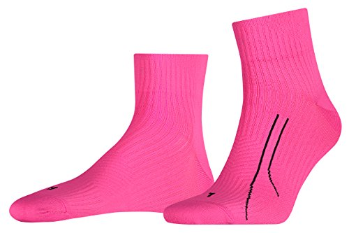 PUMA Quarter unisex PERFORMANCE RUN TRAINING Socken Sport Freizeit FARBWAHL, Grösse:39-42;Farbe:rosa