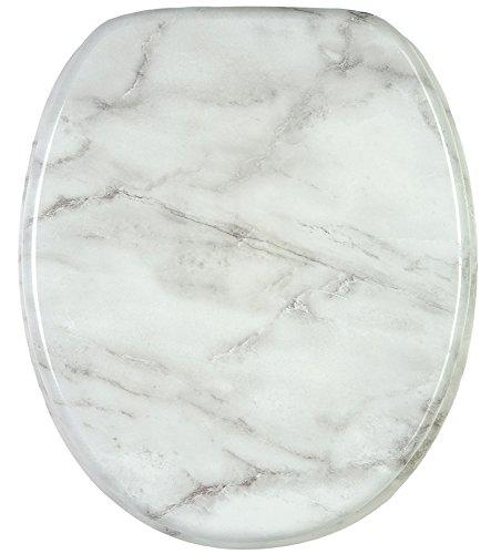 WC Sitz, hochwertige Oberfläche, einfache Montage, stabile Scharniere, Marmor