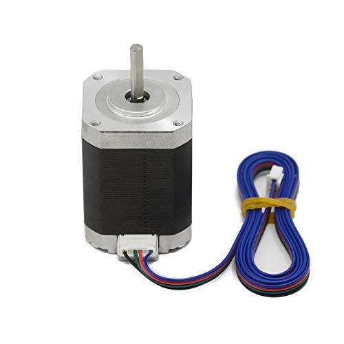 Iverntech 42 Nema 17 motore passo-passo 60 mm corpo 1.8 angolo passo-passo 1.5A 2 fasi 4-piombo con 1 m cavo per stampante 3D, macchina CNC e robotica