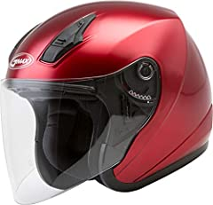 OPEN-FACE: This open-faced helmet is lightweight, allows better peripheral vision, and has a cool and modern look that you'll love. Available in a wide range of adult sizes, this is the ideal helmet for all bikers, moped riders, and scooter enthusias...