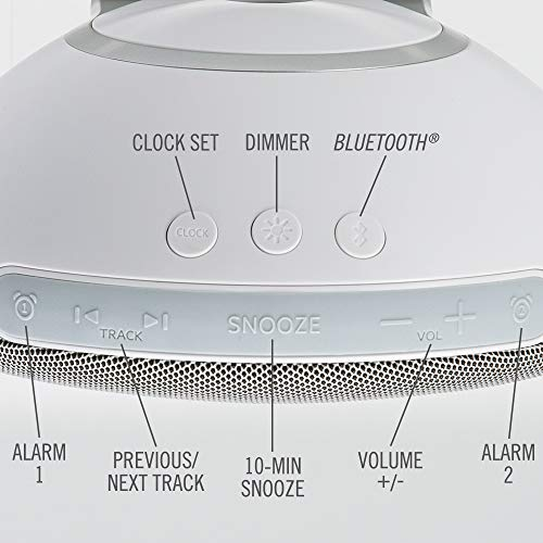 HoMedics® Deep Sleep Revitalize Sleep Sound Alarm Clock 9 Programs, 4 White Noises, 10 Sounds Incl. Nature/Meditation, Volume Control, Auto-Off Timer