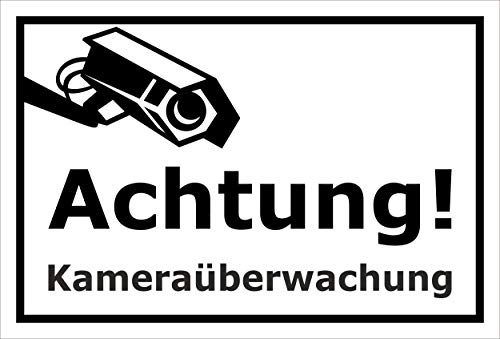 Melis folieverksstatt skylt – kameraövervakning – 60 x 40 cm | Borrhål | 3 mm hårt skum – S00348-124-A 20 VAR