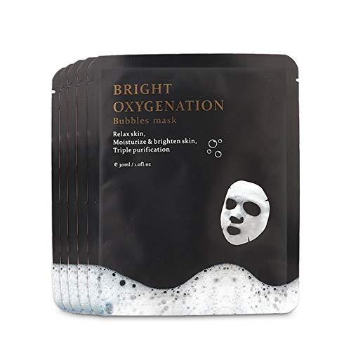Maschera Per Il Viso, 5 Pz X 30 Ml Maschera Per Bolle Di Ossigeno Maschera Per Pulizia Profonda Anti-invecchiamento Maschera Per Pulizia Bolle Riduzione Dei Pori...