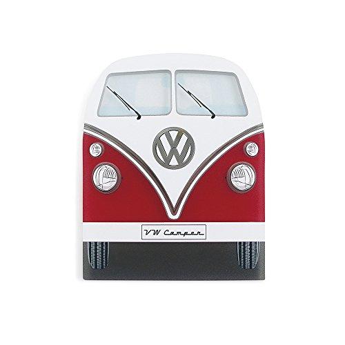 BRISA VW Collection - Volkswagen T1 Bulli Bus Eiskratzer, Scheibenkratzer, Winter-Auto-Zubehör (Front/Rot)