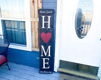Cartello con scritta 'Not branded Farmhouse Home Sweet Home', grande decorazione per porta d'ingresso personalizzata in legno, cartello per la casa con cuore