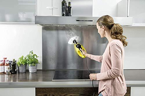 Kärcher SC1 - Limpiadora de Vapor Manual con depósito de 0,2 litros, calentamiento en 3 min y rendimiento de 20 m²