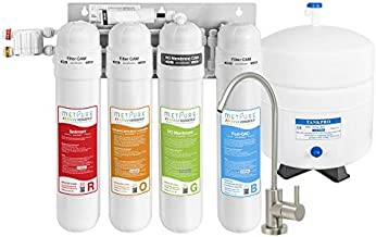 Metpure Versatile Reverse Osmosis Water Filtration System   4 Stage Quick Twist Filters RO System with Faucet   Under Sink Water Filter for Clean Drinking Water & Simple Set Up - 50 GPD