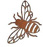 itsisa ® Dekofigur Biene im Rost Design, Rostfigur für den Garten, Gartendeko, Metalldeko
