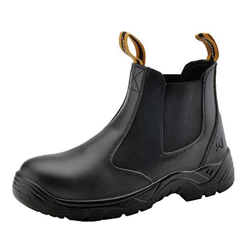SAFEYEAR Zapatos de Seguridad para Hombres 8025 Site Botas de Seguridad para Trabajo Pesado con Punta de Acero, Zapatos de Seguridad S3 SRC