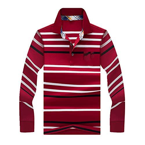 N\P Camisa polo para hombre, manga larga, informal, polo Pudra. XXL