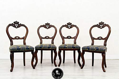 Classic Interior 4 Stühle Esszimmer Italien Antik Barock Stilmöbel Stilmöbel