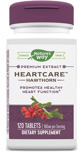 Nature's Way Heart Care (Hawthorn Extract) 160 mg per Serving, Dietary Supplement, 120 Tablets