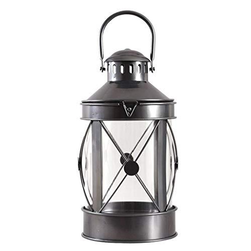 PLOP Candelabros de Hierro para Soporte de Mesa Candlestick Colgante Romántico Inicio Decoración de la Boda Vela Rack Retro Rack Candelabundo (Color : Black)