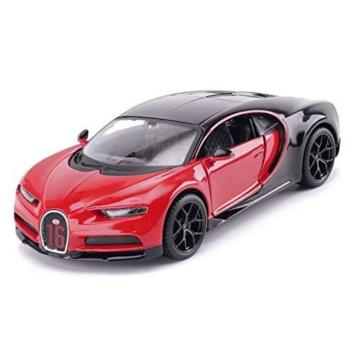 SSBH Automodell Auto Druckguss Modell Bugatti Chiron Sportwagen Modell Spielzeug Geschenk Maßstab 1:24 Sammlung Modell Ornamente Spielzeug Kinder Holz und Mustang Kleinkinder Metall Auto
