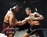 Jean Claude Van Damme & Bolo Yeung'Chong Li' Autographed Body Shot 16x20 Photo