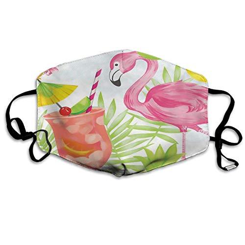 Nonbrand - Máscara unisex de cobertura completa para la cara, bandanas, protección UV, polaina, braga tropical, hoja de bnana flamenco, zumo