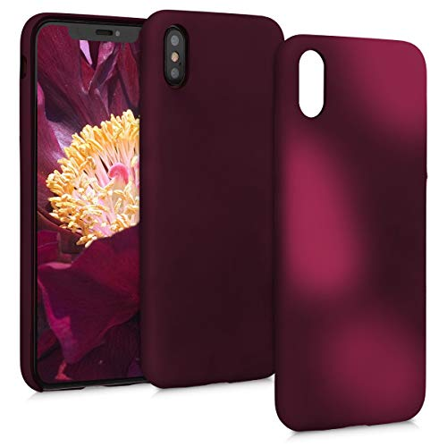 kwmobile Apple iPhone XS Max Hülle - Handyhülle für Apple iPhone XS Max - Handy Case in Fuchsia Pink