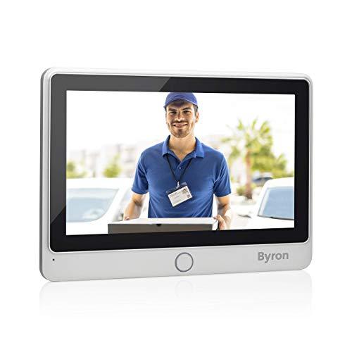 Byron DIC-24102 Set de Ampliación de Videoportero con Cables - 2 Cables con Comunicación Bidireccional – Pantalla Táctil, Plata