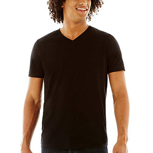Arizona Jean Co. V-Neck Jersey T-Shirt (Black, XX-Large)