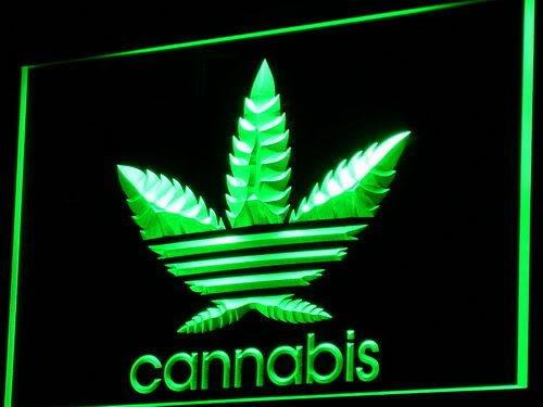 Jintora - Neon Sign - señal de neón - Cannabis Marijuana - Marihuana Cannabis - Fiesta, Discoteca, Club, Bistro, Salón de Fiestas, Ventana