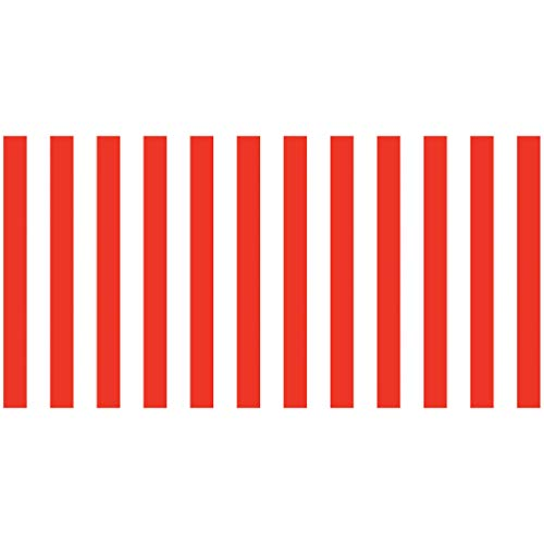 Fadeless Bulletin Board Art Paper, Classic Stripes - Red & White, 48' x 50', 1 Roll