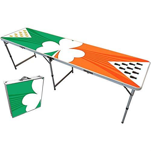 Offizieller Irish Beer Pong Tisch | Premium Qualität | Offizielle Wettkampfmaße | Beer Pong Table | Kratz und Wassergeschützt | 100% Spaß