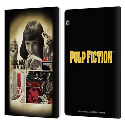 Head Case Designs Licenza Ufficiale Pulp Fiction Mia Wallace Arte Cover in Pelle a Portafoglio Compatibile con Huawei MediaPad T5