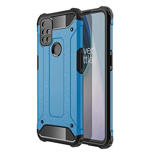 ZDCASE OnePlus Nord N10 5G Funda, Antideslizante TPU Suave & Resistente a Rayones PC Duro A Prueba de choques Protectora Funda para OnePlus Nord N10 5G - Azul