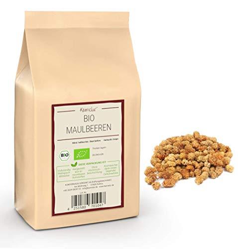 1kg weiße BIO Maulbeeren getrocknet und ohne Zusätze - getrocknete Maulbeeren BIO als leckere Trockenfrüchte