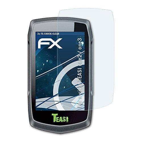 atFoliX Antichoque Película Protectora para a-Rival TEASI one2 / one3 Protector Película - 3 x FX-Shock-Clear de absorción de choques Ultra Claro Lámina Protectora de Pantalla