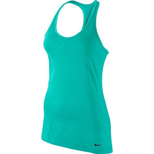 Nike Get Fit Tank - Maglietta - Verde, L, Donna