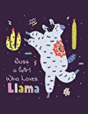 Just a Girl Who Loves LLamas Sketchbook: Sketch Book for Kids | Practice Drawing and Doodling | Sketching Book for Toddlers & Tweens | Pattern Succulent | Kids, Teen and College Students