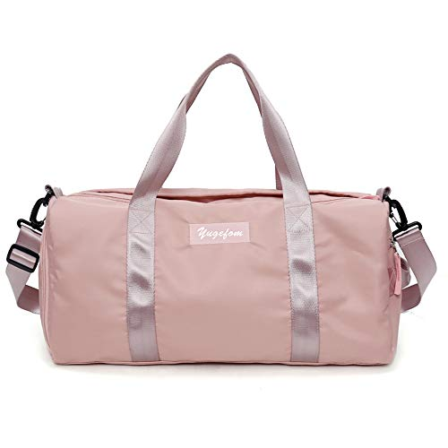 Yugefom Sporttasche Reisetasche modisch wasserdicht mit Schuhfach Nassfach für Damen und Herre