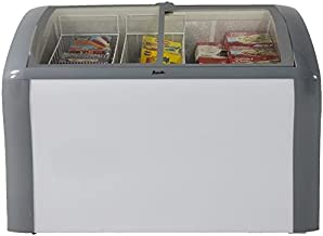 Avanti CFC83Q0WG 41″ Commercial Convertible Freezer/Refrigerator with 9.3 cu. ft. Capacity Glass Top Display 2 Removable Storage Baskets Adjustable Thermostat Lock and Rollers: